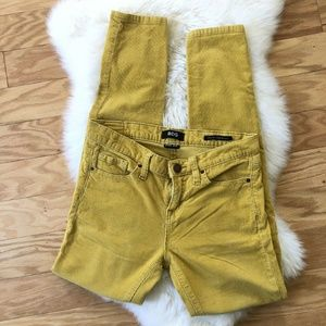 Urban Outfitters BDG Women Yellow Corduroy Skinny